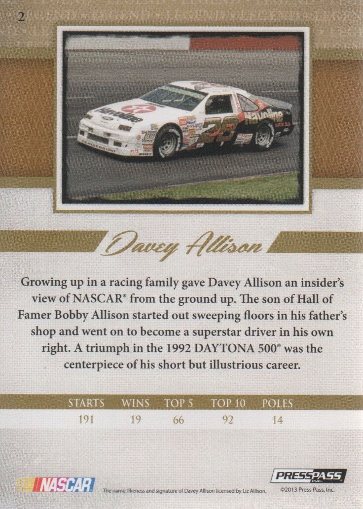 2013-Press-Pass-Legends-Parallels-NASCAR-Racing-Cards-Pick-From-List thumbnail 17