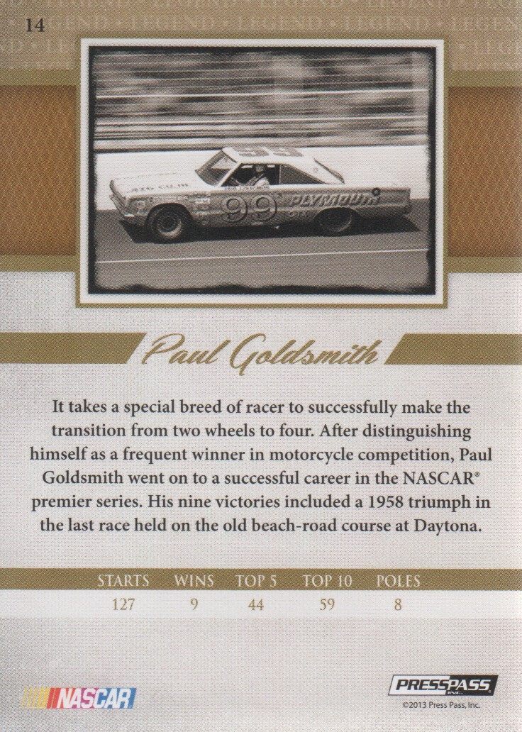 2013-Press-Pass-Legends-Parallels-NASCAR-Racing-Cards-Pick-From-List thumbnail 21