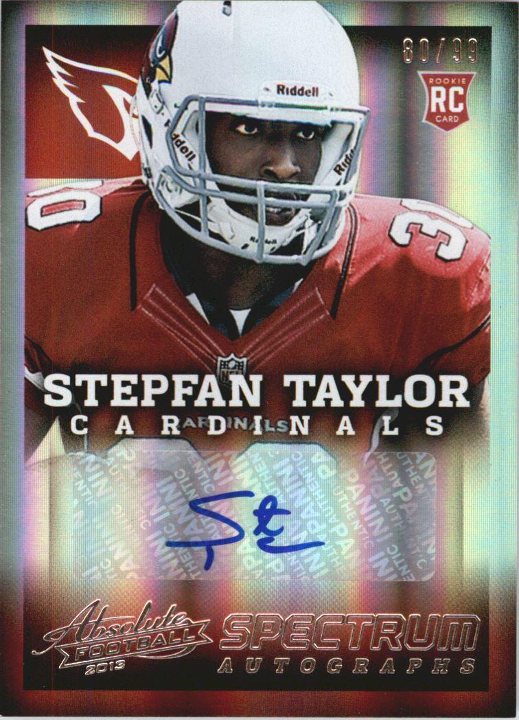 2013 Absolute Spectrum Silver Autographs #187 Stepfan Taylor/99