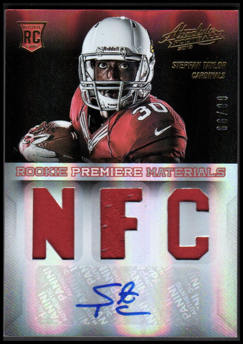 2013 Absolute Rookie Premiere Materials Autographs AFC/NFC #234 Stepfan Taylor