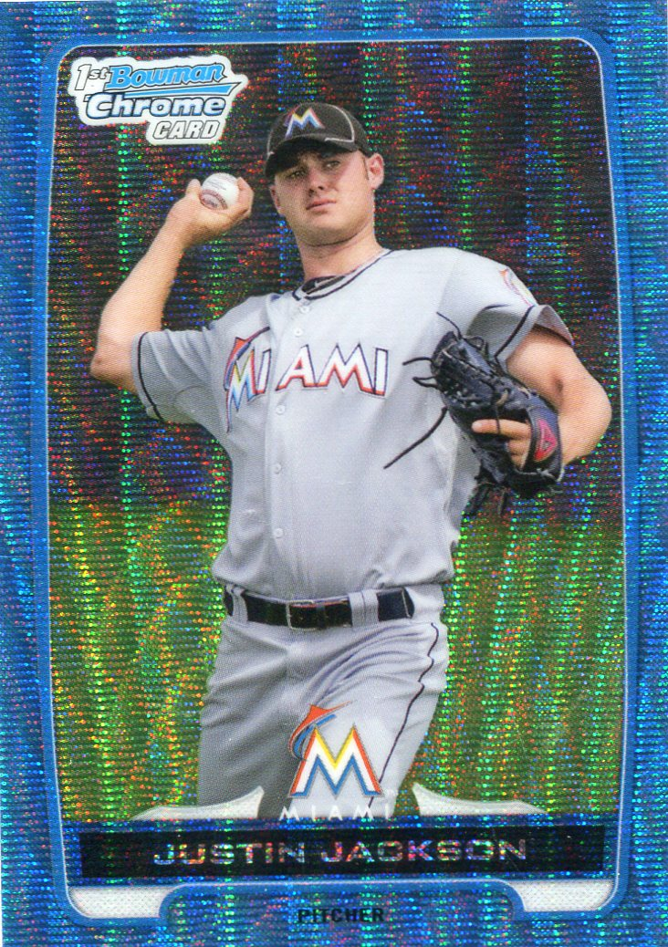2012 Bowman Chrome Draft Draft Picks Blue Wave Refractors #BDPP148 Justin Jackson