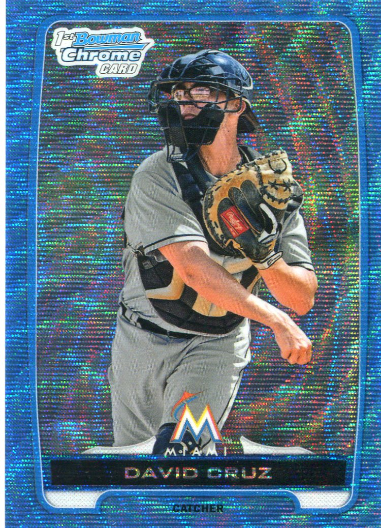 2012 Bowman Chrome Draft Draft Picks Blue Wave Refractors #BDPP152 David Cruz