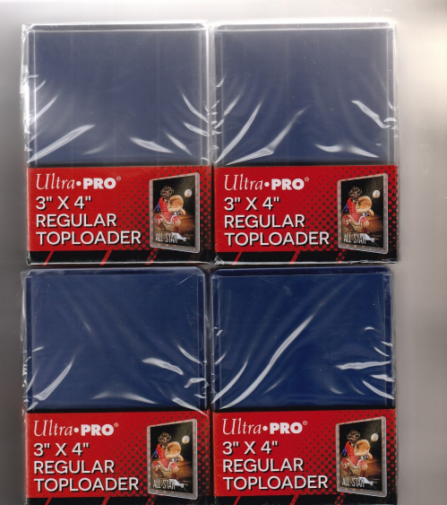 4 PACKS OF ULTRA PRO COLLECTOR SAFE TOP LOADER WITH 25 TOP LOADERS PER PACK OF CARD COLLECTOR SAFE 3 X 4 ULTRA CLEAR TOPLOADERS FOR A TOTAL OF 100 CARD TOP LOADERS  !!!!!!!!!