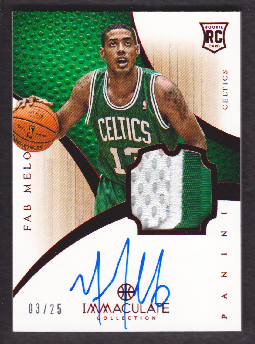 2012-13 Immaculate Collection Rookie Red #154 Fab Melo/25