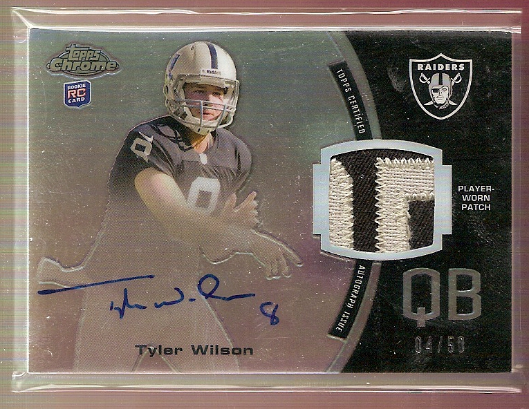 2013 Topps Chrome Rookie Autographs Patches #RAPTW Tyler Wilson