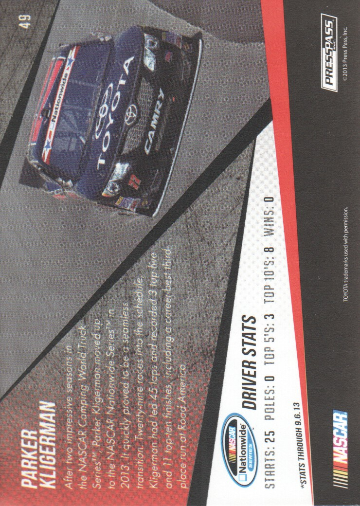 2014-Press-Pass-Parallels-NASCAR-Racing-Cards-Pick-From-List thumbnail 21