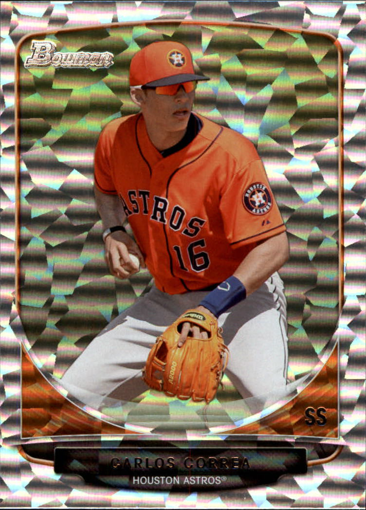 2013 Bowman Draft Top Prospects Silver Ice #TP10 Carlos Correa