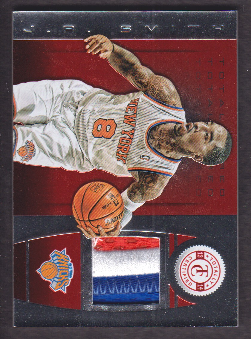 2013-14 Totally Certified Materials Red Prime #22 J.R. Smith/25