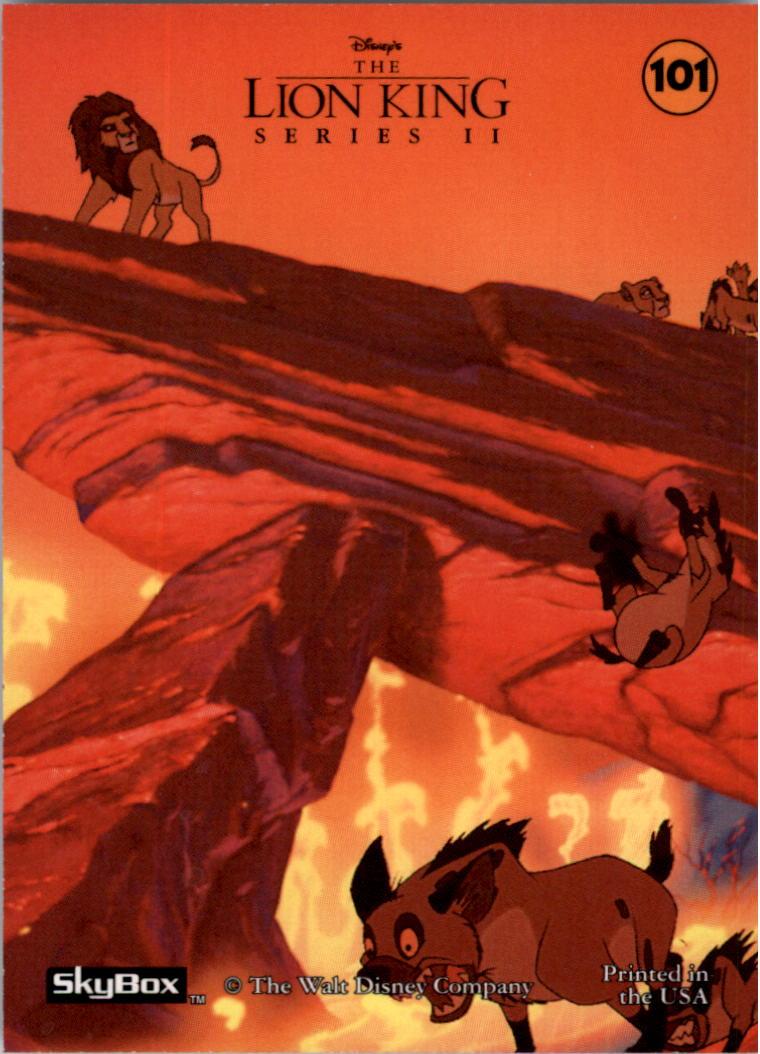 1994 The Lion King #101 Fire Engulfs Pride Rock 2 back image