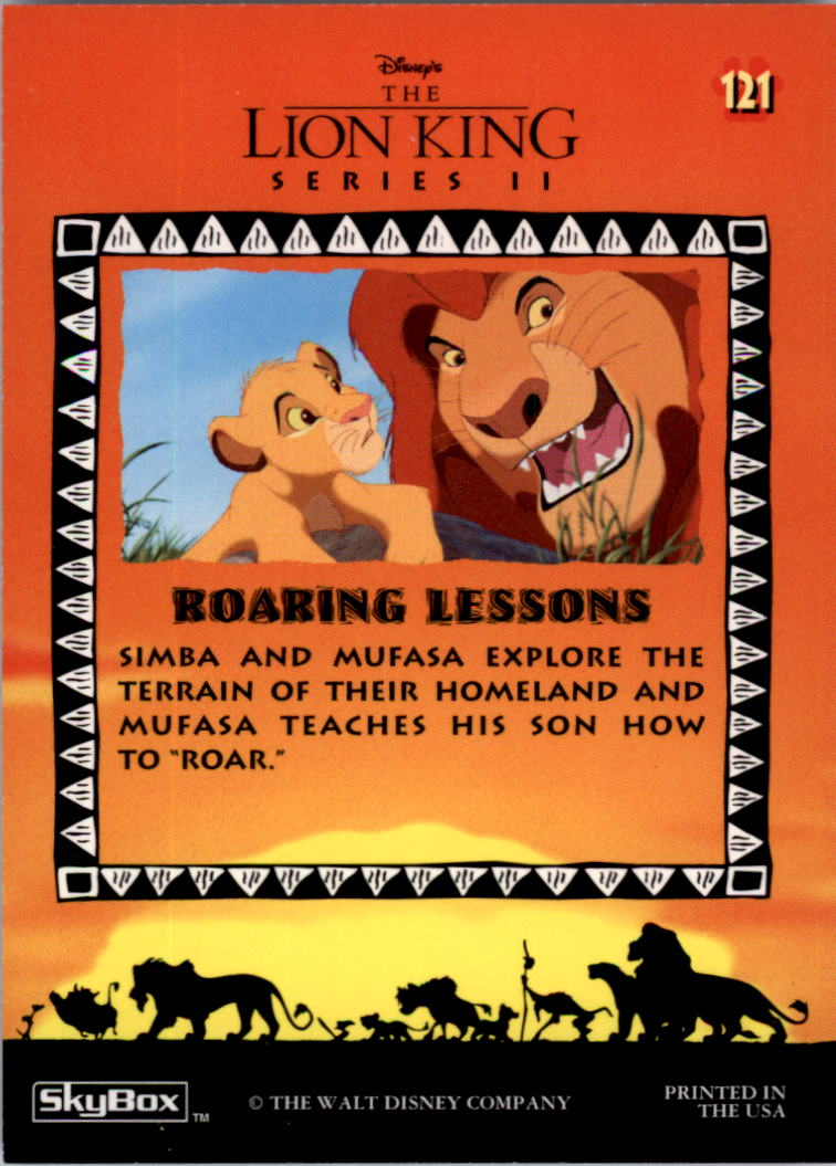 1994 The Lion King #121 Roaring Lessons back image