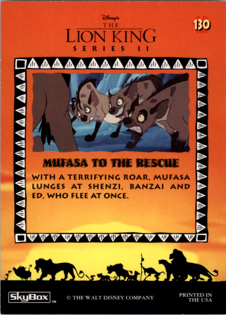 1994 The Lion King #130 Mufasa to the Rescue back image