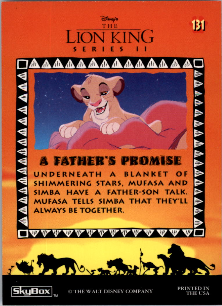 1994 The Lion King #131 A Father's Promise back image