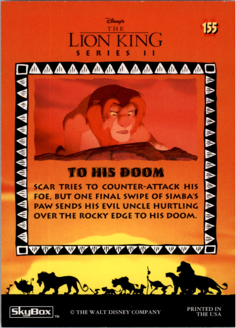 1994 The Lion King #155 To His Doom back image
