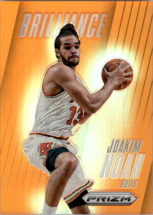 2013-14 Panini Prizm Brilliance Prizms Orange #15 Joakim Noah