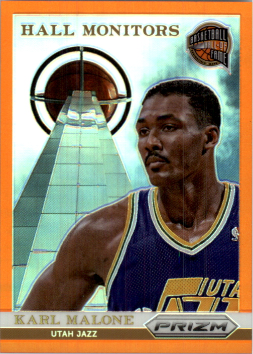 2013-14 Panini Prizm Hall Monitors Prizms Orange #4 Karl Malone