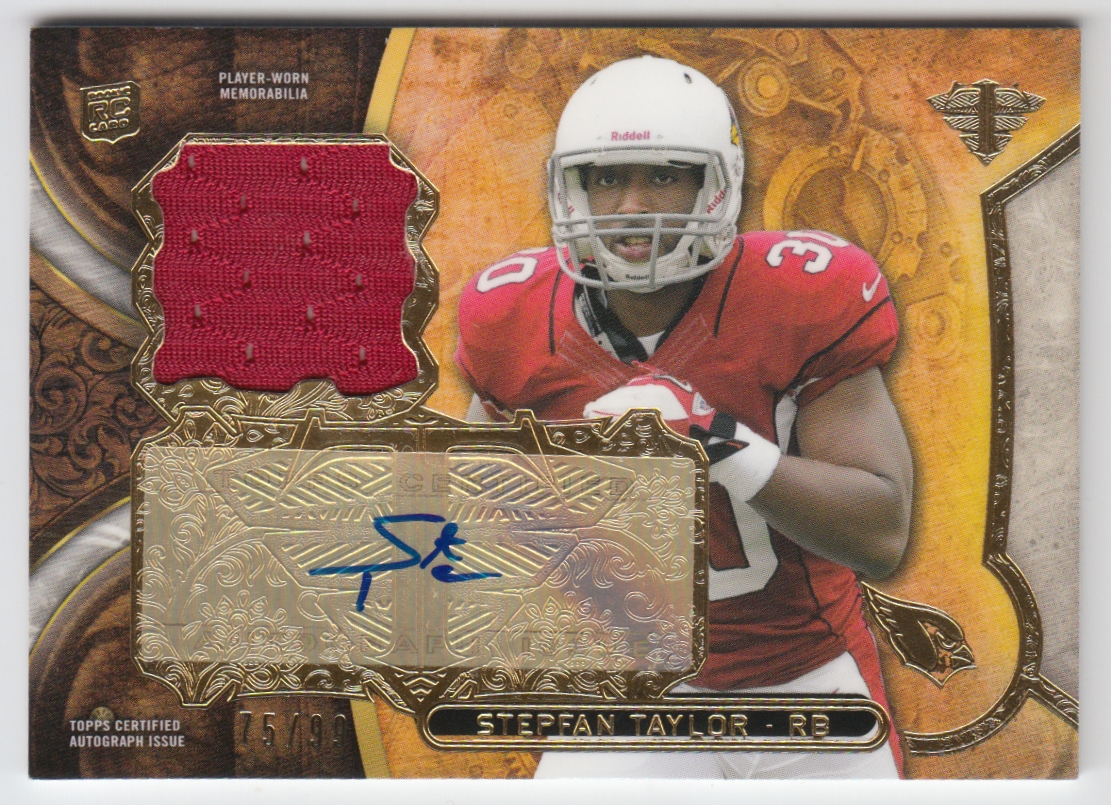 2013 Topps Triple Threads Rookie Autograph Relics #TTRARST2 Stepfan Taylor