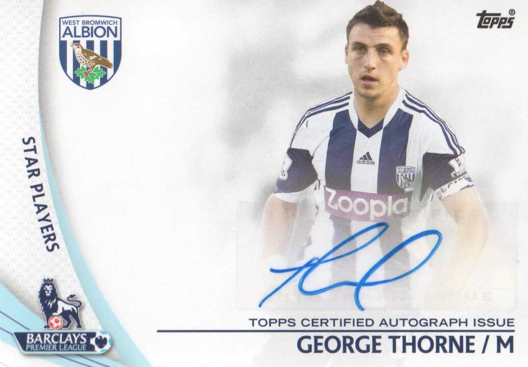 2013-14 Topps English Premier League Gold Star Players Autographs #SPGT George Thorne