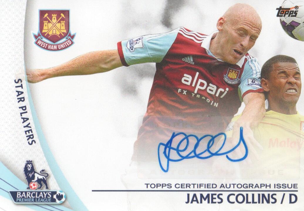 2013-14 Topps English Premier League Gold Star Players Autographs #SPJC James Collins