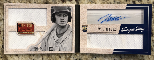 2013 Panini America's Pastime Red #308 Wil Myers JSY AU EXCH