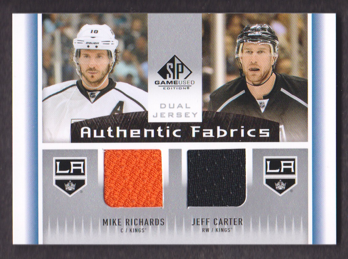 2013-14 SP Game Used Authentic Fabrics Dual #AF2RC Mike Richards/Jeff Carter D