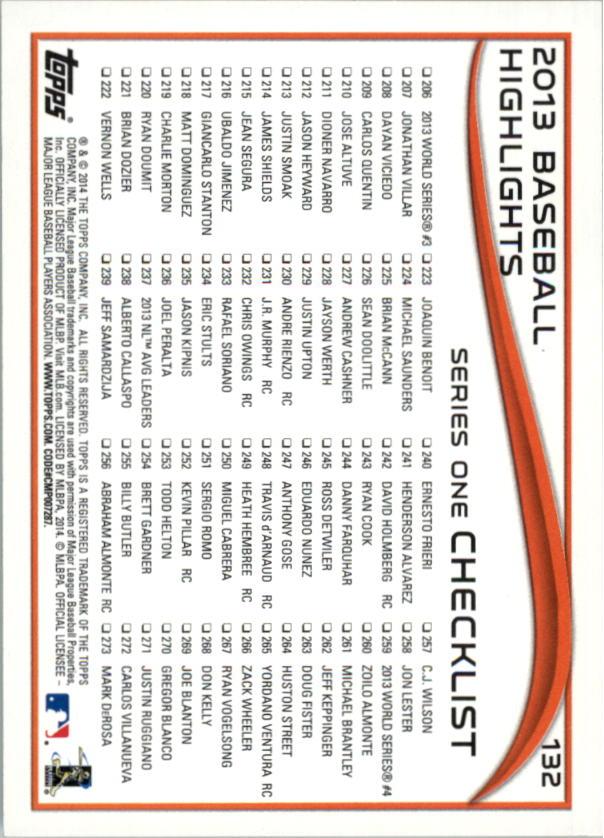 2014-Tarjeta-de-beisbol-Topps-Verde-Pick miniatura 26
