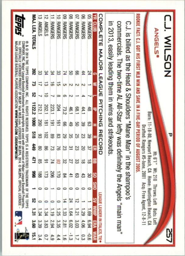 2014-Tarjeta-de-beisbol-Topps-Verde-Pick miniatura 50