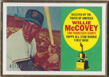 2014 Topps Rookie Reprints Framed Gold #RCF8 Willie McCovey