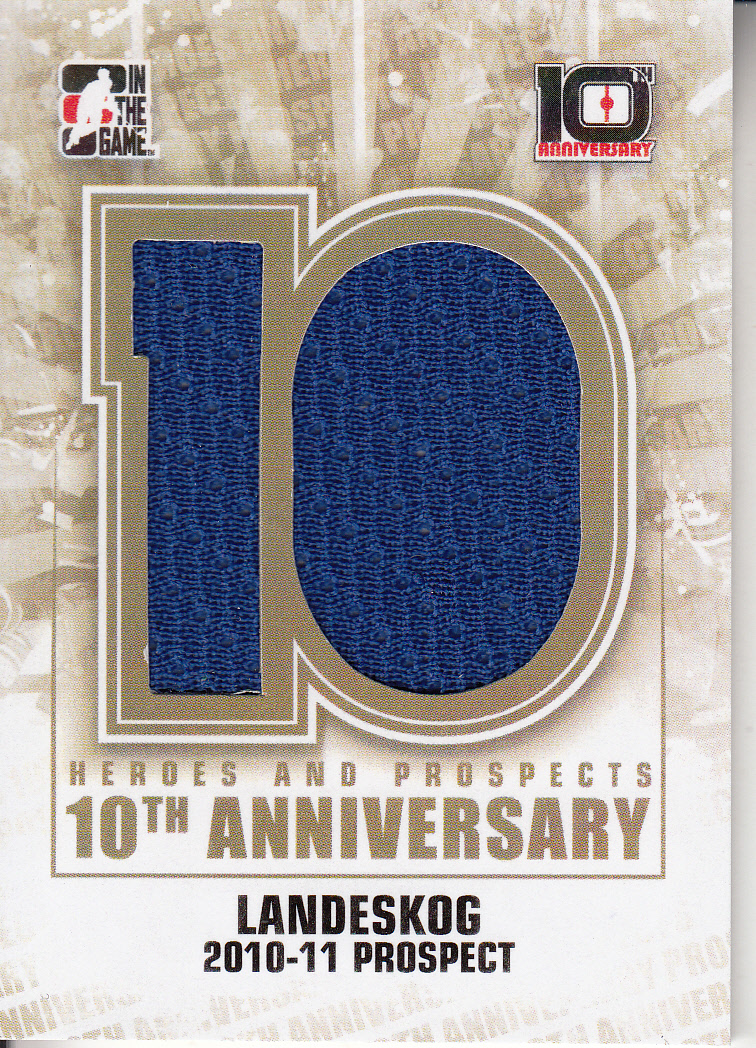 2013-14 ITG Heroes and Prospects Tenth Anniversary Jersey #AP73 Gabriel Landeskog/80*