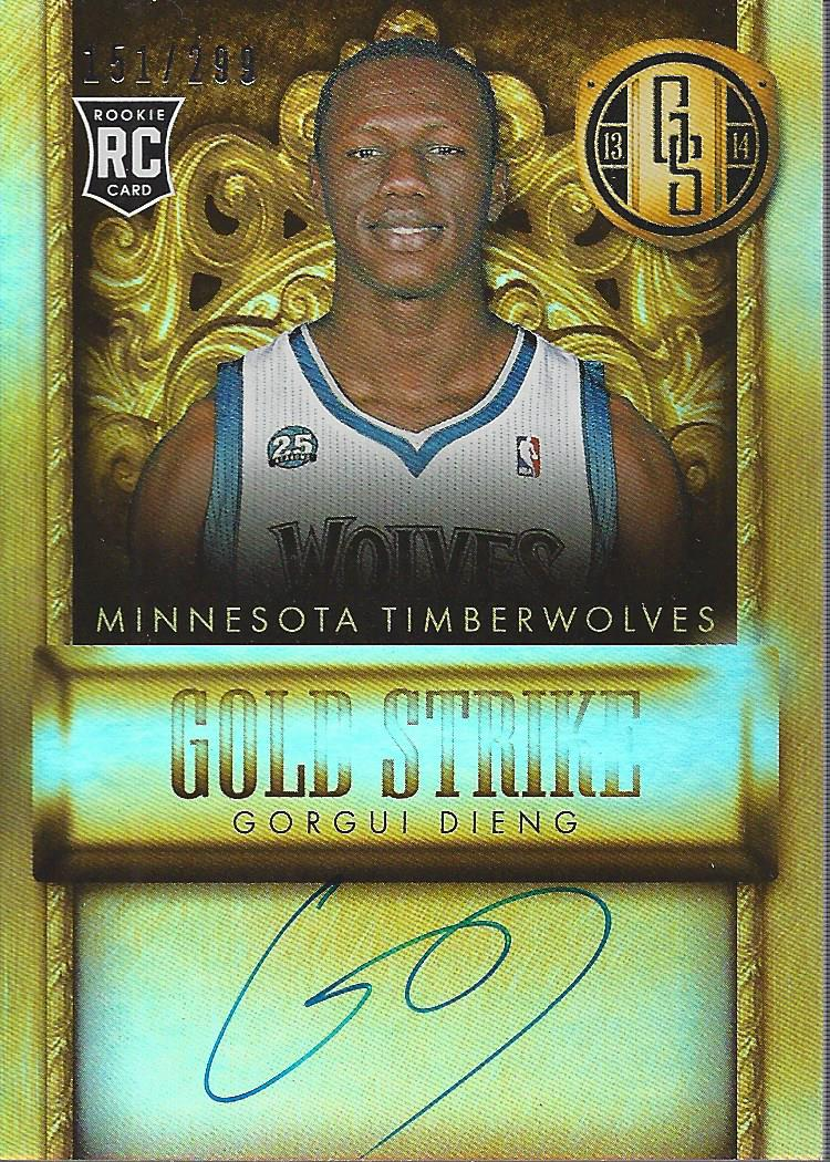 2013-14 Panini Gold Standard Gold Strike Signatures #15 Gorgui Dieng/299