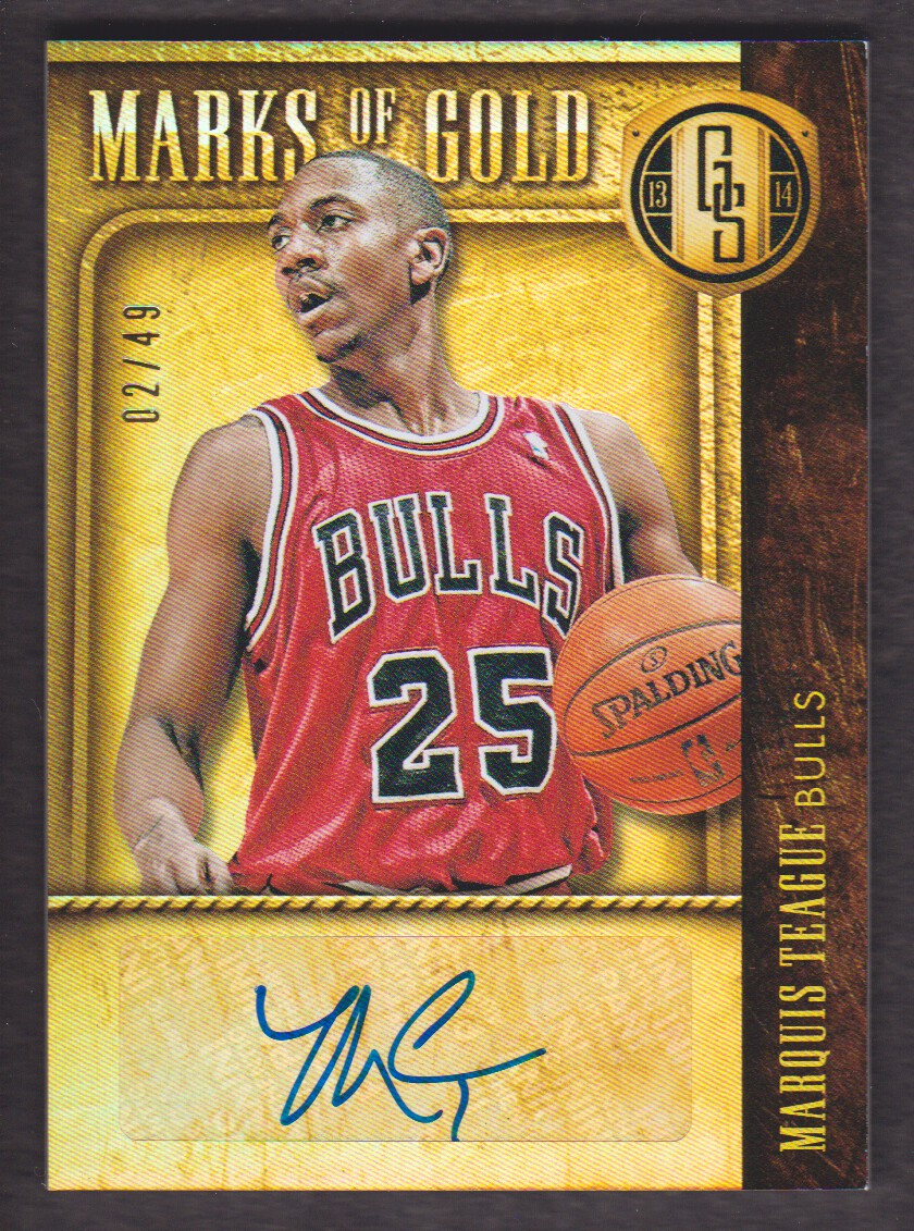 2013-14 Panini Gold Standard Marks of Gold #25 Marquis Teague/49