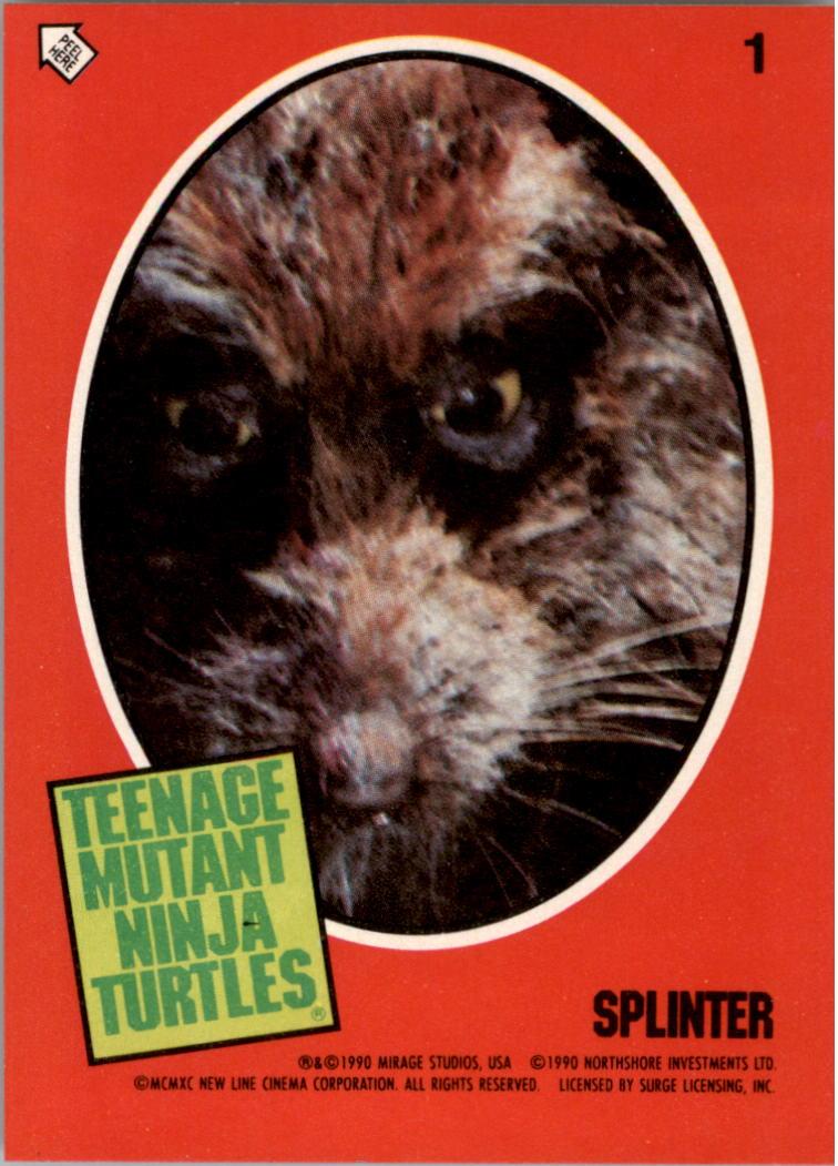 1990 Teenage Mutant Ninja Turtles Movie Topps Stickers 1 Splinter Ebay