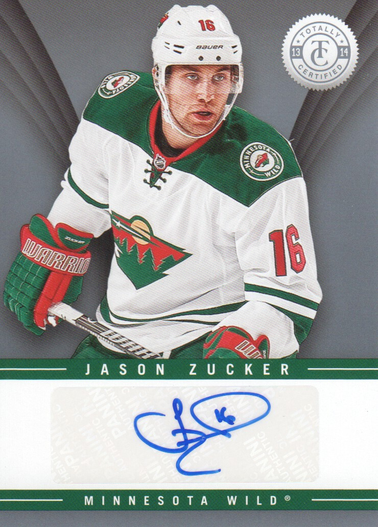 2013 14 Totally Certified Autograph Ts Jzu Jason Zucker Auto