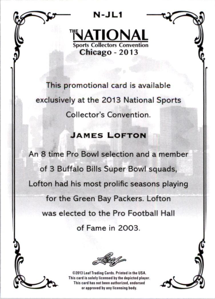 2013 Leaf National Convention #NJL1 James Lofton back image