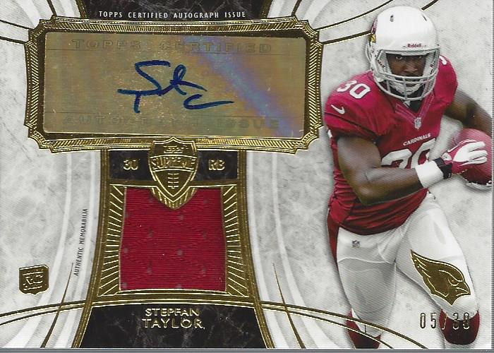 2013 Topps Supreme Autographed Relics #SARST Stepfan Taylor