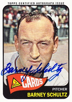 2014 Topps Heritage Real One Autographs #ROABSC Barney Schultz