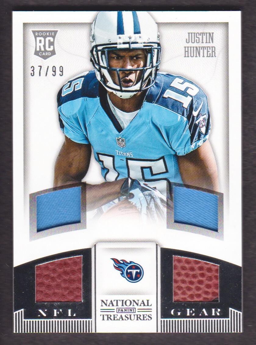 2013 National Treasures NFL Gear Quad Jersey #16 Justin Hunter 3799