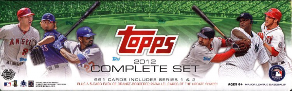 2012 Topps Baseball Factory HTA HOBBY Set