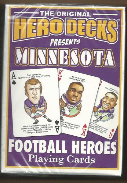 Minnesota Vikings NFL Hero Decks Playing Cards Poker Sized 52 card deck