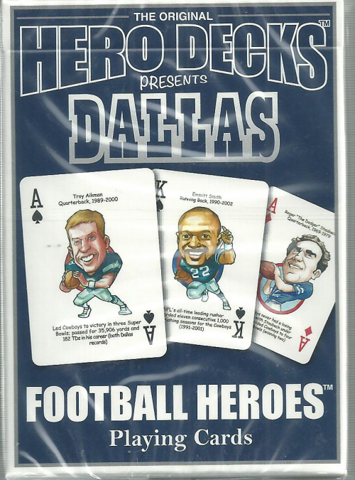 Dallas Cowboys Hero Decks Playing Cards Poker Sized 52 Card Deck