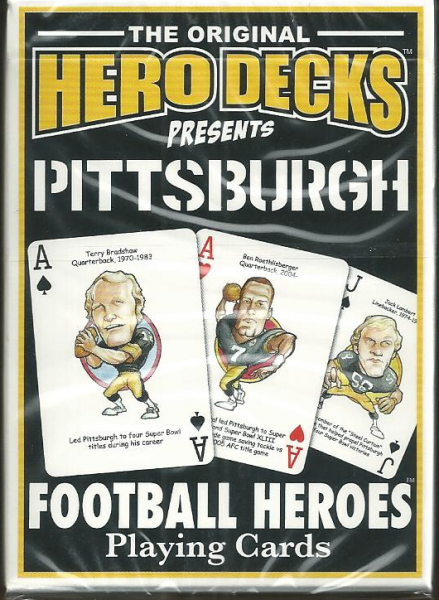 Pittsburgh Steelers Hero Decks Playing Cards Poker Sized 52 Card Deck