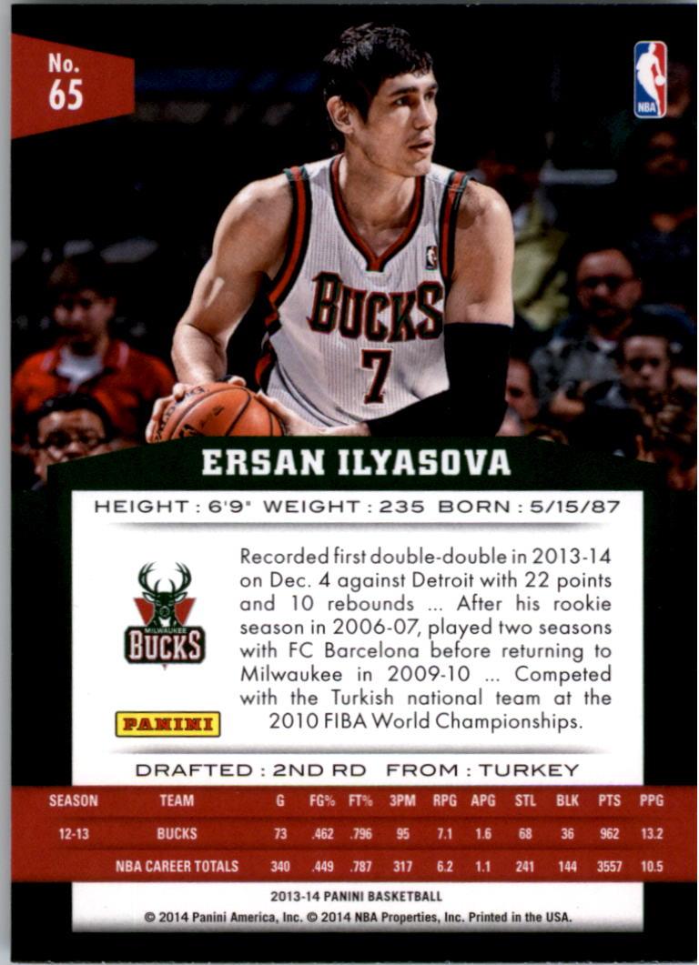 2013-14 Panini #65 Ersan Ilyasova back image