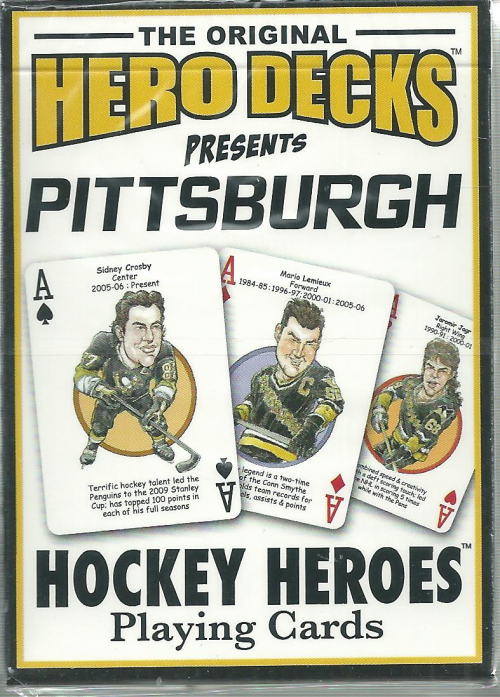 Pittsburgh Penguins NHL Hockey Hero Decks Playing Cards Poker Sized 52 Card Deck