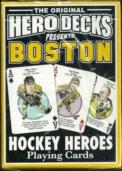Boston Bruins NHL Hockey Hero Decks Playing Cards Poker Sized 52 Card Deck