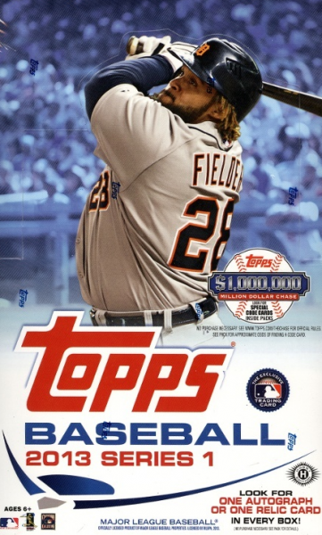 2013 Topps Baseball Series 1 HOBBY Box