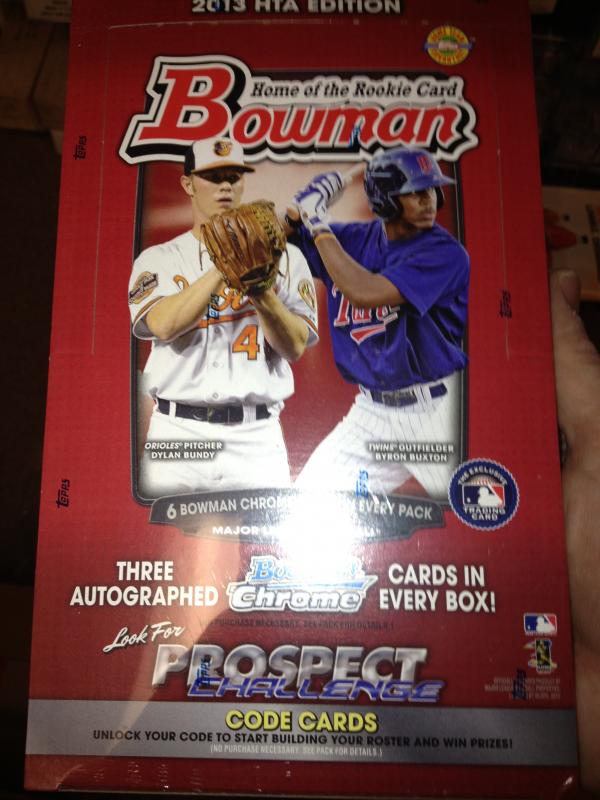 2013 Bowman Jumbo Hobby HTA Sealed New Box