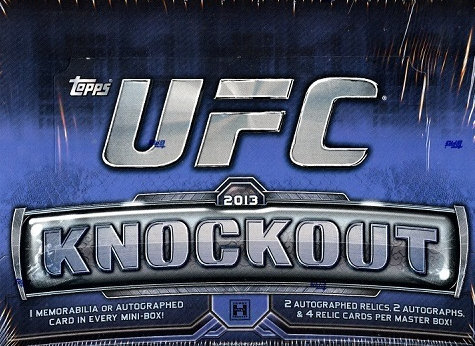 2013 Topps UFC KNOCKOUT HOBBY Box