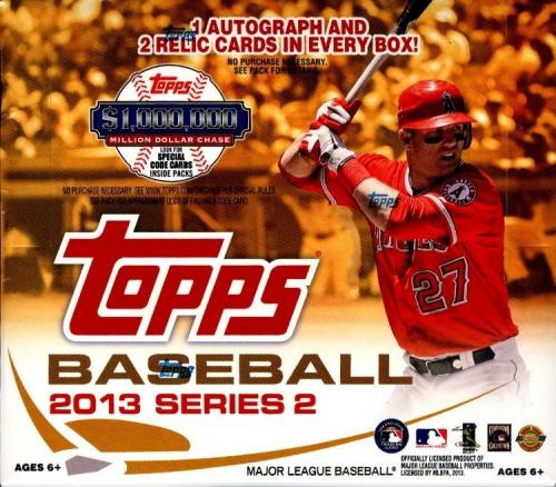 2013 Topps Series 2 Baseball HTA JUMBO Box