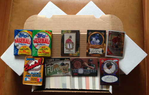 3 - 500 Different Baseball Card Lots w/3 Bonus Packs + 3 Autograph Cards + 3 Game-Used Cards