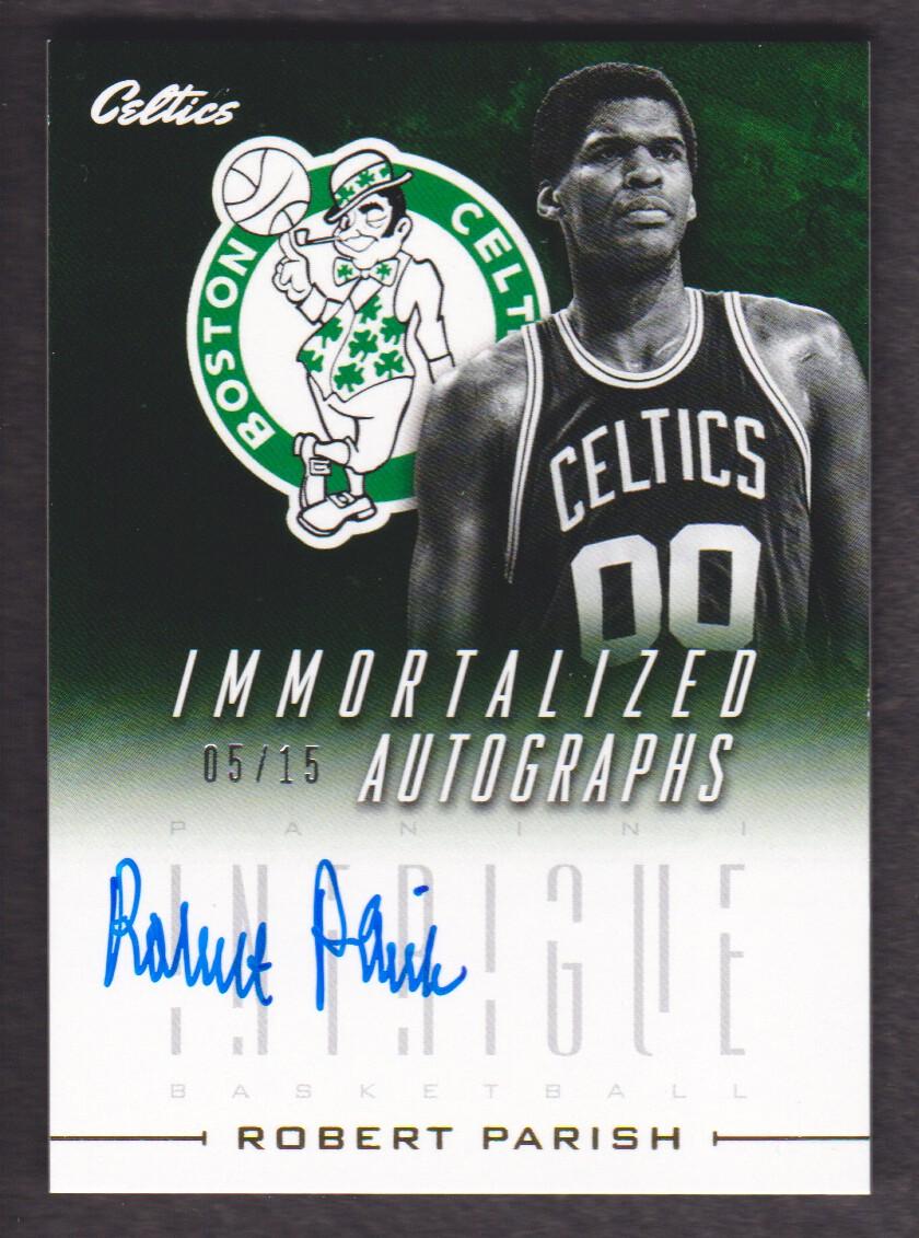 2013-14 Panini Intrigue Immortalized Autographs #25 Robert Parish/15