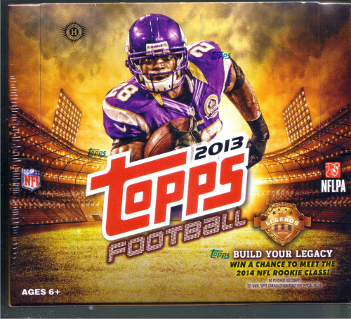 2013 Topps Football HTA JUMBO Box